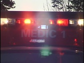 Ambulance Emergency Lights Stock Footage