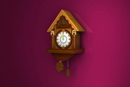 Clock of cuckoo Stock Footage