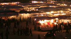 Foodcourt1 marrakesh Stock Footage