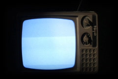 Old TV Turns Off 020 - SD Stock Footage