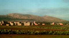 Maroc country (grunge thru window) Stock Footage
