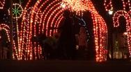Tunnel Of Christmas Lights 01 Stock Footage