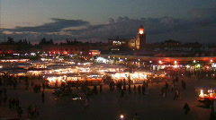 Marrakesh madena night Stock Footage
