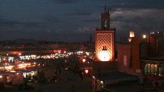 Merrikesh mosque night1 Stock Footage