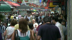 Crowded pedestrian street Stock Footage