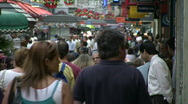 Stock Video Footage of Crowded pedestrian street