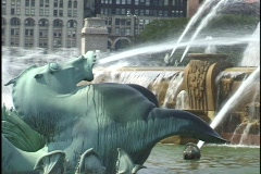 Chicago Buckingham Fountain 2 Stock Footage