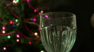 Christmas Sparkling Wine 01 Stock Footage