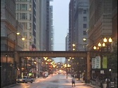 El-Train Over City Street Stock Footage