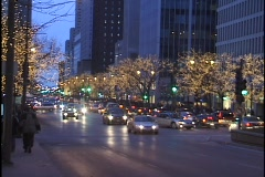Chicago Michigan Avenue at Christmas2 Stock Footage