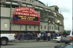 Chicago Wrigley Field Entrance Stock Footage