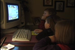 Children at Computer  Stock Footage
