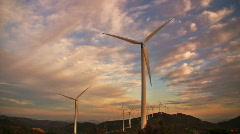 Modern windmills Stock Footage