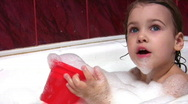 Stock Video Footage of child in bath