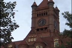 Clock Tower Time Lapse Day Into Night Stock Footage