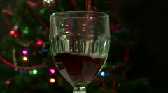 Christmastime Dark Red Wine Stock Footage