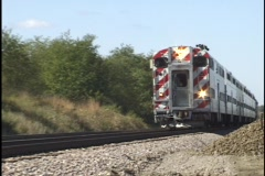 Commuter Train Passes 1 Stock Footage