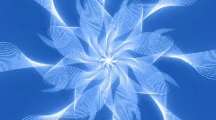 Abstract blue patterned shapes - stock footage