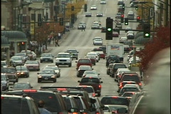 Congested Street Time Lapse - stock footage