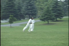 Cricket Game Stock Footage