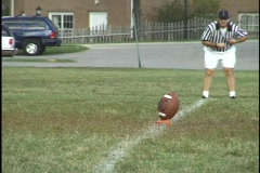 Football Kickoff Stock Footage