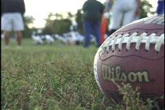 Football on Field - stock footage