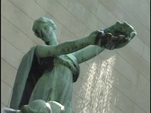 Fountain Statue 2 Stock Footage