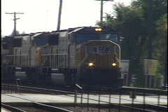 Freight Train Passes 2 Stock Footage