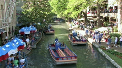 Tourist river walk San Antonio Texas timelapse M HD Stock Footage