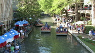 Stock Video Footage of tourist river walk San Antonio Texas timelapse M HD