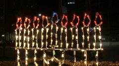 Hanukkah Menorah Lights 02 Stock Footage