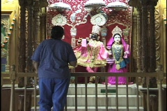 Hindus Praying at Shrines 1 Stock Footage