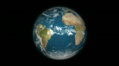 Rotating Earth 120 - Loopable (HD) Stock Footage