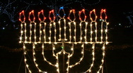 Hanukkah Menorah Lights 01 Stock Footage