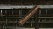 Rusty Light Swininging in the Wind Stock Footage