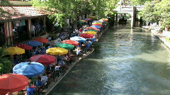 Tourist boats river walk timelapse San Antonio M HD Stock Footage