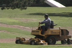 Riding Lawn Mower Stock Footage