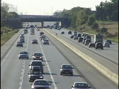 Light Traffic Driving on Freeway Stock Footage