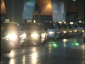 Line of Taxis Stock Footage