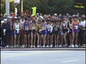 Marathon Starting Line Stock Footage