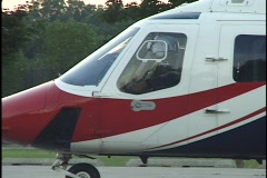 Medical Helicopter Prepars Takeoff 2 Stock Footage