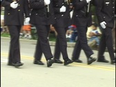 Military Marching in Parade 1 Stock Footage