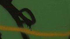 Derelict Train / Tram with graffiti Stock Footage