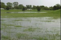 Neighborhood Flood Stock Footage
