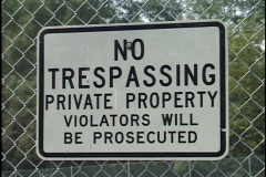 No Trespassing Private Property Sign Stock Footage