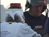 Paramedic Treats Senior Citizen Stock Footage