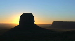 Monument Valley Navajo Tribal Park at Sunrise – Time Lapse Stock Footage