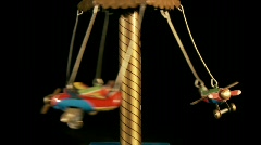 Toy plane carousel 2 Stock Footage