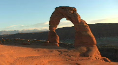 Arches National Park – Delicate Arch at Dusk– Time Lapse Stock Footage