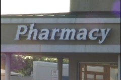 Pharmacy Sign Stock Footage